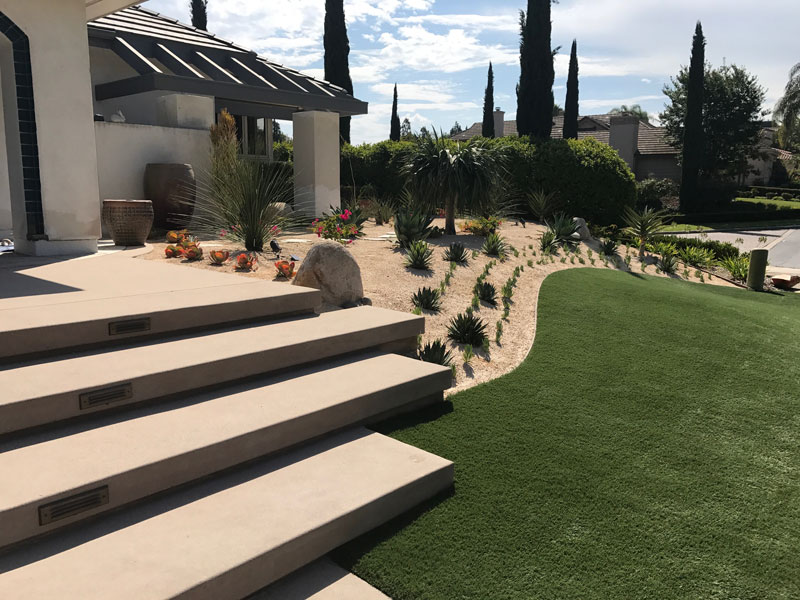 Synthetic Turf Installation Contractor Projects Solana Beach, New Residential or Business Project Artificial Landscape Installation